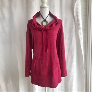 Soft and cozy cranberry tunic by Sejour Sz 1x